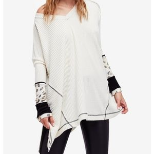 Free People Oversized Loving Leopard Top